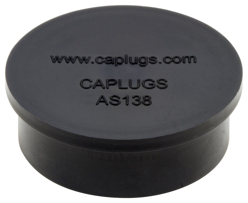 Caplugs ZAS13871BQ1 Plastic Electrical Connector Dust Cap AS138-71B, PE-LD, Meets new SAE Aerospace specification AS85049/138. Please see drawing., Black (Pack of 100)
