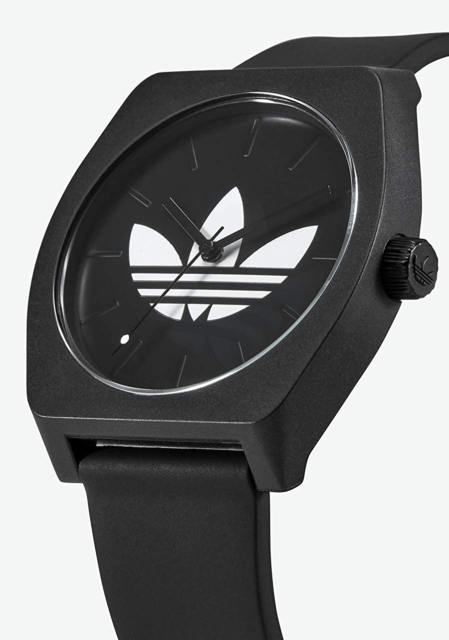 adidas Watches Process_SP1. Silicone Strap, 20mm Width (38 mm). Trefoil/Black