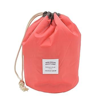 873c796389 Amazon.com   Premium Large Padded Round Cosmetic Travel Makeup Bag Pouch  Organizer