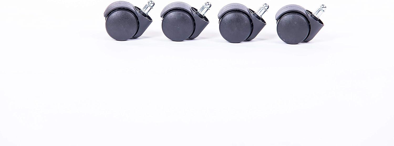 Bosmiller Caster B/ürostuhlrollen Sehr leise 360 /° Drehstuhlrollen Schwarz Stuhlrollen 5er Set