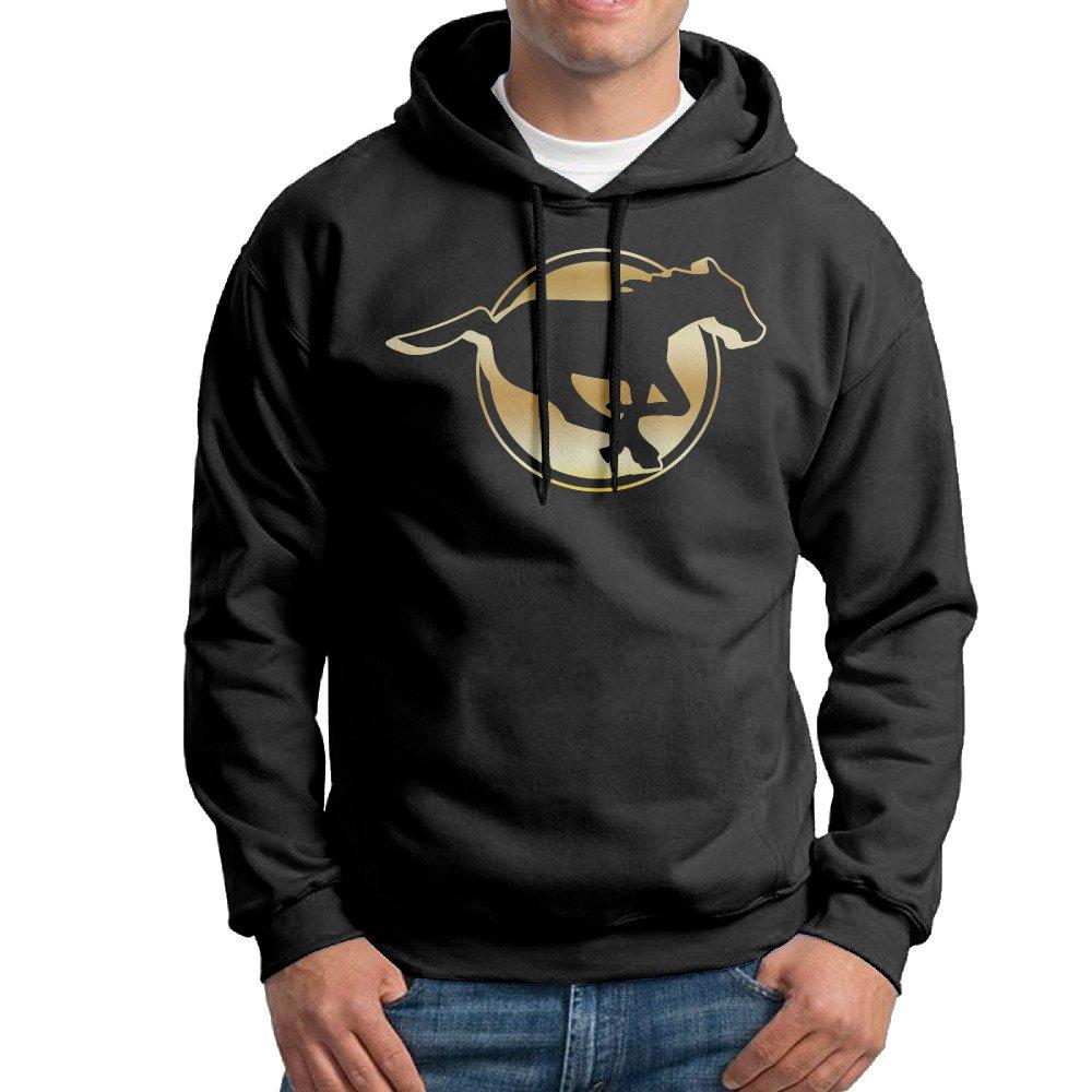 SARAH Mens Calgary Stampeders Canadian Football Team Logo Hoodie