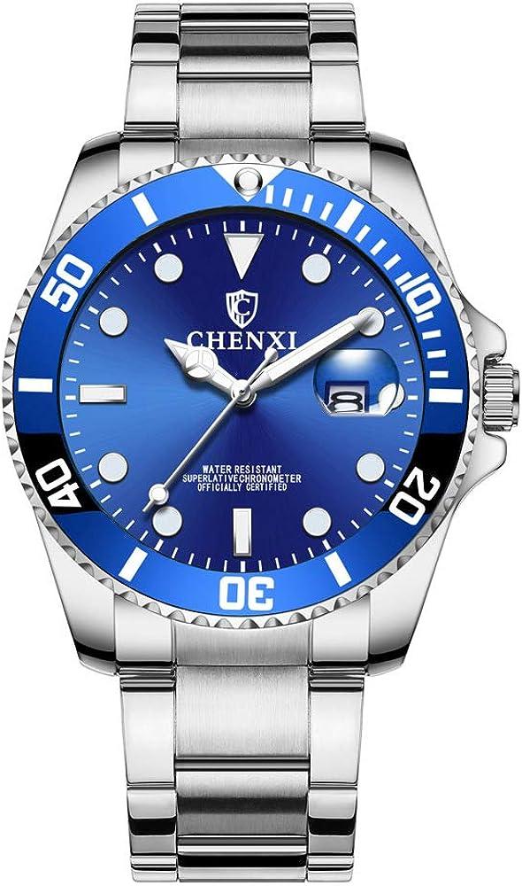 Relojes Estilo Submariner Clásico Relojes Calendario Hombre Acero Inoxidable