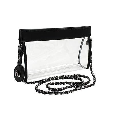 19a8010a41a3 Nu Women Handbags Zoe Black Clear Crossbody Bag