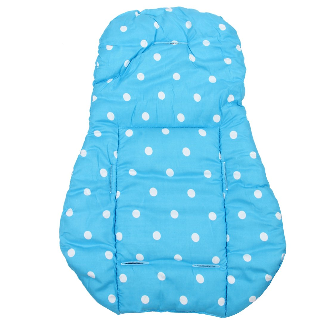 SODIAL Coussin en coton epais pour la poussette des bebes Siege de voiture Couverture de la Poussette Coussin en coton Tapis en coton pour la Siege de poussette infantile - Bleu