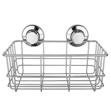 amazon com sanno bathroom shower caddy deep basket shelf with rh amazon com suction shower corner shelves