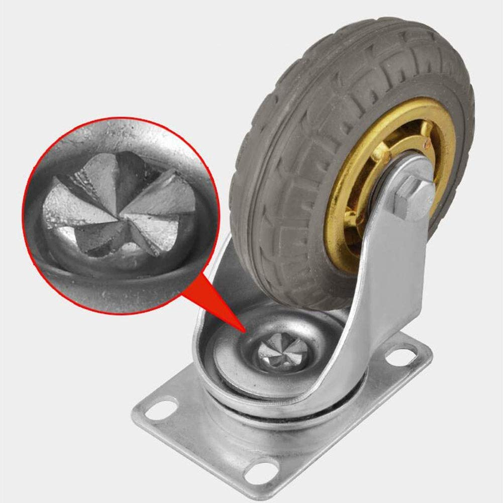 4pcs Color : Directional, Size : 4-inch4 pieces MUMA 3//4 Inch Rubber Dustproof Silent Caster Industrial Mechanical Wheel Furniture Electrical Appliances And Equipment Wheels
