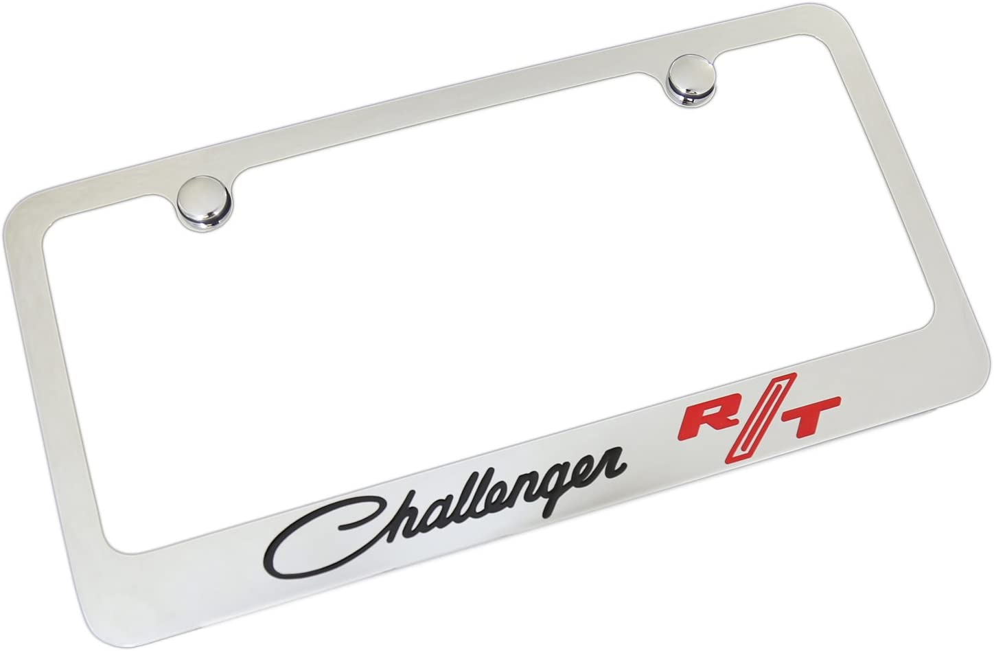Dodge Red Challenger R//T Classic Chrome Metal License Plate Frame