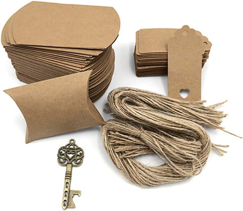 50pcs Skeleton Key Bottle Opener Wedding Party Favor Souvenir Gift Set Candy Box Escort Card Tag and Jute Rope Bronze Keys