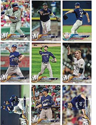 Milwaukee Brewers / Complete 2018 Topps Series 1 & 2 Baseball 30 Card Team Set! PLUS 2017 Topps Series 1 & 2 Brewers Team Set!
