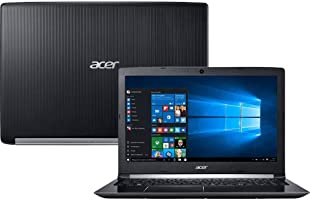 "Notebook Acer Aspire 5, A515-51G-58VH, Intel core i5 7200U, 8GB RAM, HD 1TB, tela 15,6"" LED, Windows 10"