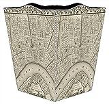 WB1589 Antique New Orleans Map Wastepaper Basket