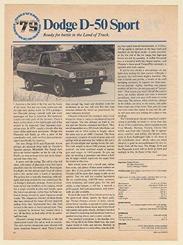 Dodge D50 Truck (1979 Dodge D-50 Sport Pickup Truck Driving Impression Article (65540))