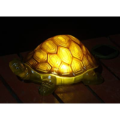 G-mart Solar Powered Outdoor Turtle with LED Glowing Shells