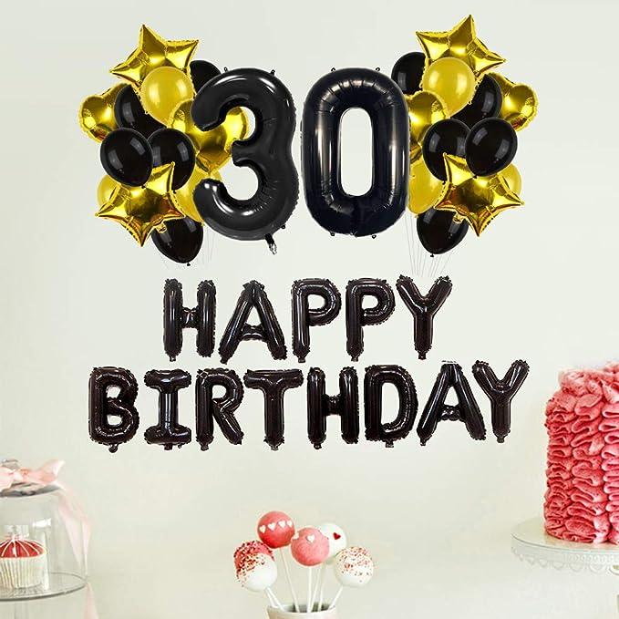 Toyvian 43 Piezas 30 años de Edad, Feliz cumpleaños, Globos ...