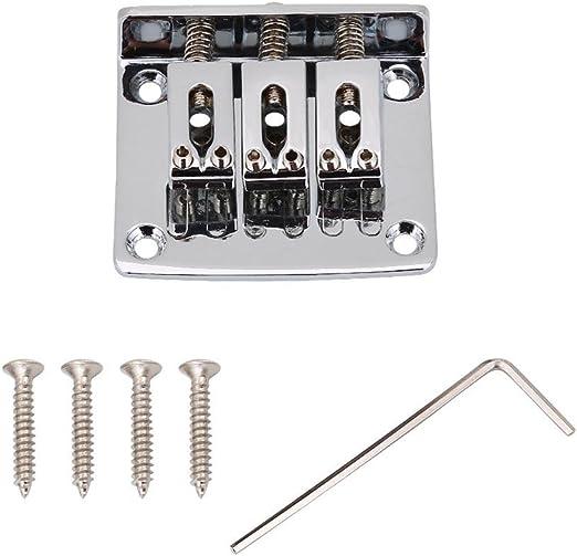 Puente para guitarra eléctrica, aleación de zinc, 3 cuerdas fijas ...