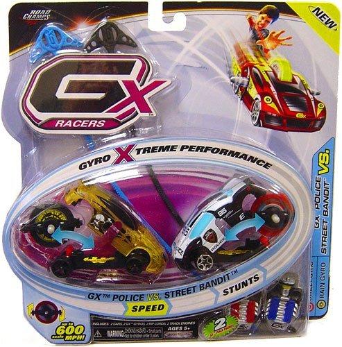 GX Racers 1:64 Scale Cars Speed 2-Pack GX Police (Street Gyro) vs. Street Bandit (Rain Gyro) ()
