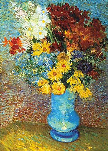 D-Toys Puzzles - Flowers in Blue Vase 1000 Piece Jigsaw Puzzle - 26.75 x 18.5 Inch Puzzle - Imported from Romania