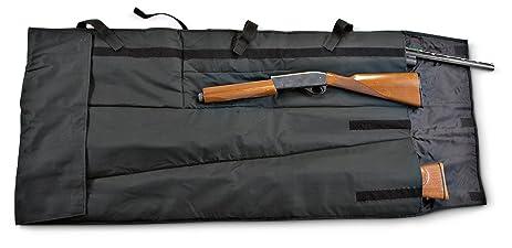 Seville Classics Gun Wrap Scabbard Holds 2 Rifles Or Shotguns Black
