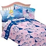 New Disney Cinderella Twin Sheet Set Secret Princess Bedding - (Type of Product:Bedding-Sheets & pillowcases) - New