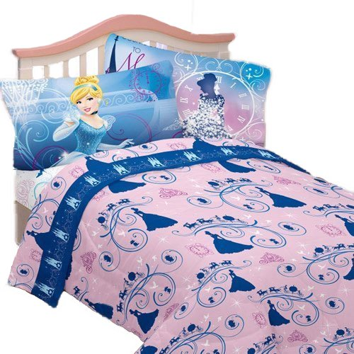 3pc Disney Cinderella Twin Bed Sheet Set Secret Princess Bedding - Bedding Sets Princess