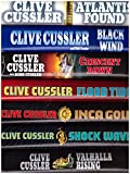 Set of 10 hardback Clive Cussler's Dirk Pitt : 9. Treasure 10. Dragon 11. Sahara 12. Inca Gold 13. Shock Wave 14. Flood Tide 15. Atlantis Found 16. Valhalla Rising 17. Trojan Odyssey 18. Black Wind