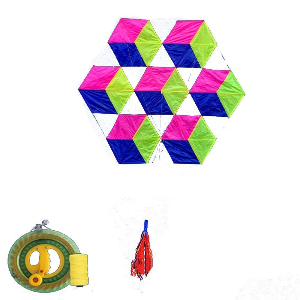 凧,アウトドア玩具 柔らかい傘布6面ルービックキューブ大きな大人の凧、飛ぶのは簡単風(リール付き) スポーツ健康の楽しみ D) (色 : (色 D) f B07QZV5DCY F f F f, スポーツファーム:06277cd3 --- ferraridentalclinic.com.lb