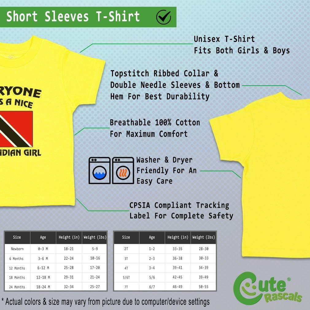 Custom Baby /& Toddler T-Shirt Everyone Loves Nice Trinidadian Girl Cotton