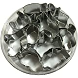 Yunko 10 Pieces Animal Cracker Small Stainless Steel Cookie Cutter Set