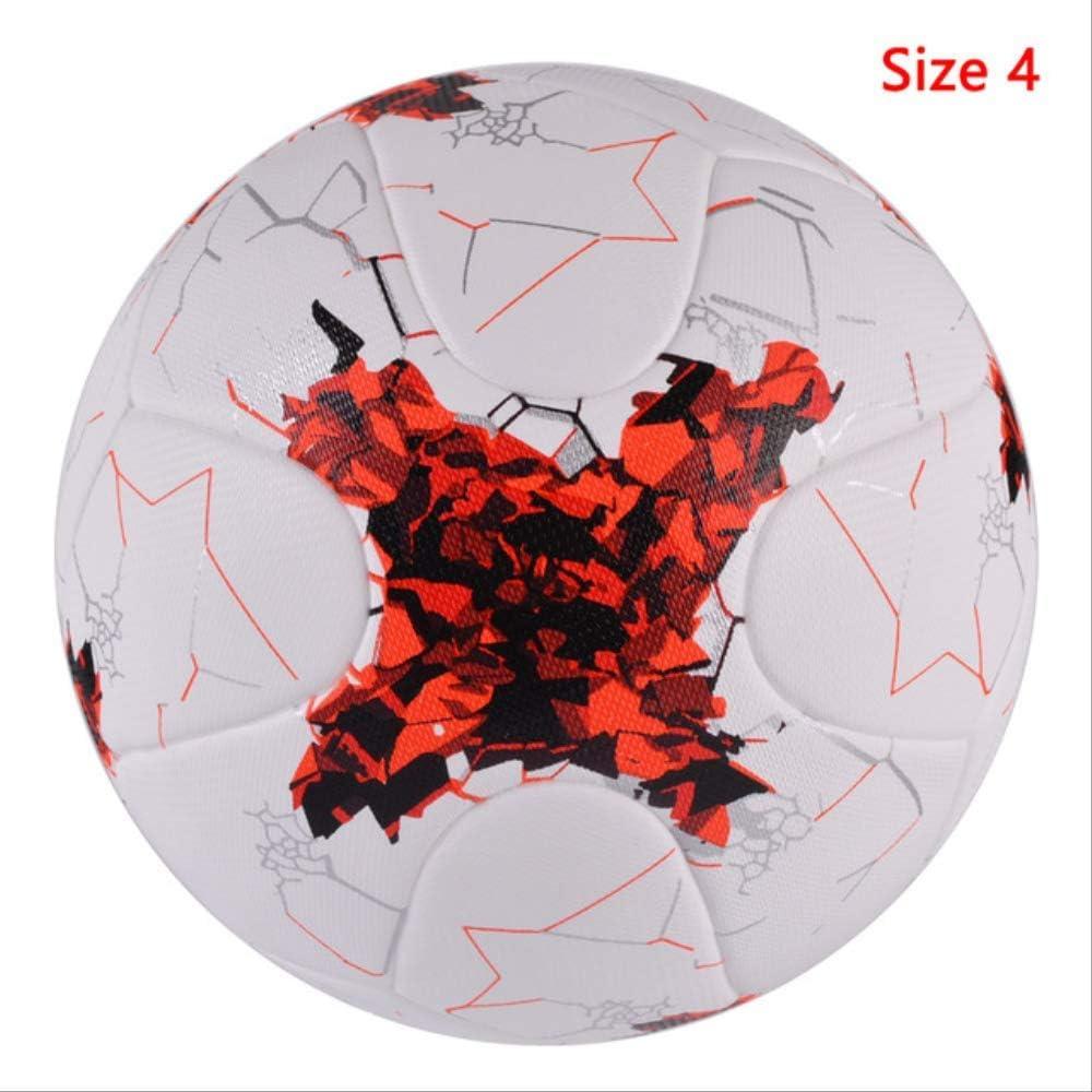 zuq Balón de fútbol Profesional, tamaño 4, Color Rojo y Blanco ...