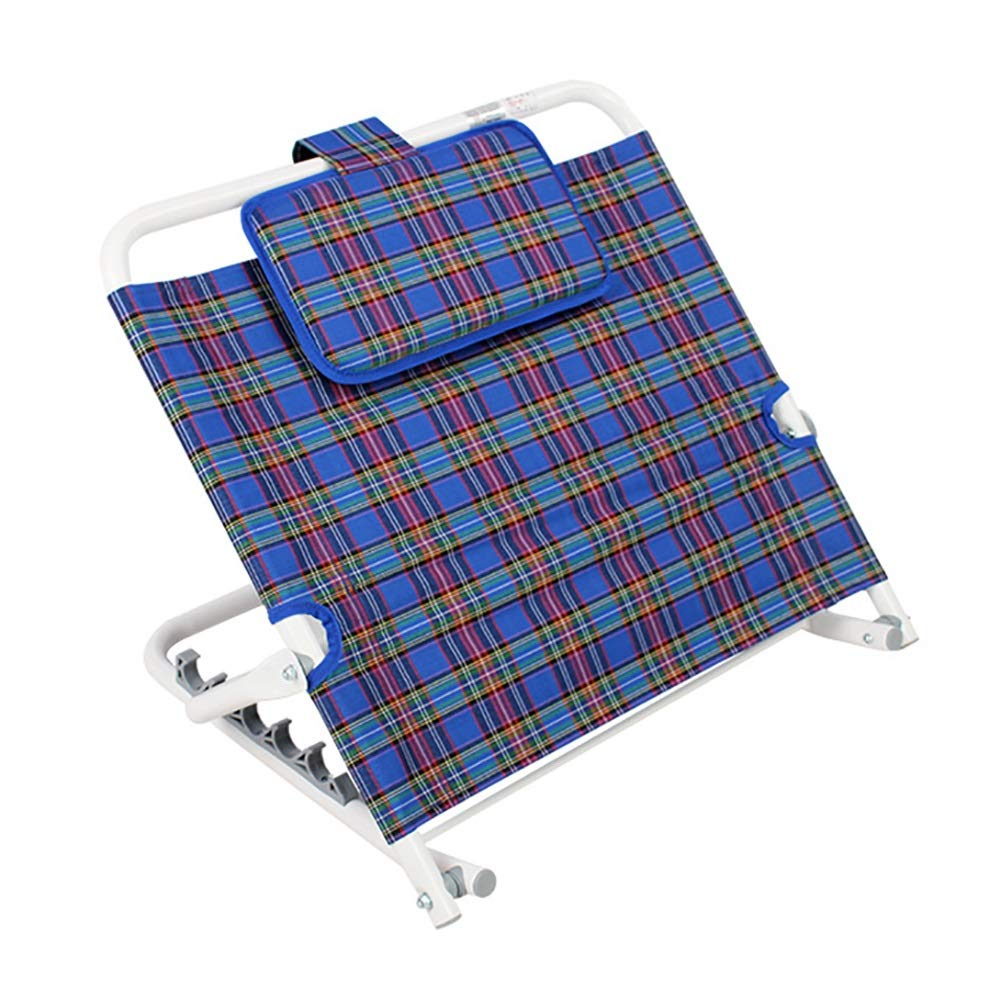 Backrest LXF Folding for Elderly/Disabled, 5-Speed Adjustment Bed Wedges with Headrest, Quality Medical Care Support Cushion by Backrest