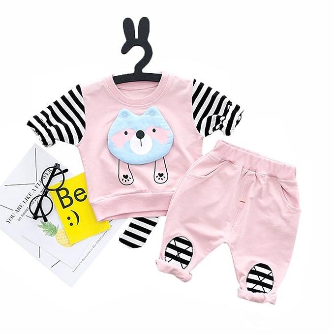 78274f13d0a45  テンか  ベビー服 セットアップ 上下セット スーツ 赤ちゃん シャツ+ロングパンツ アライグマ 長袖