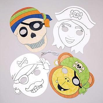 Baker Ross Kits De Caretas De Pirata Para Colorear Pack De 8