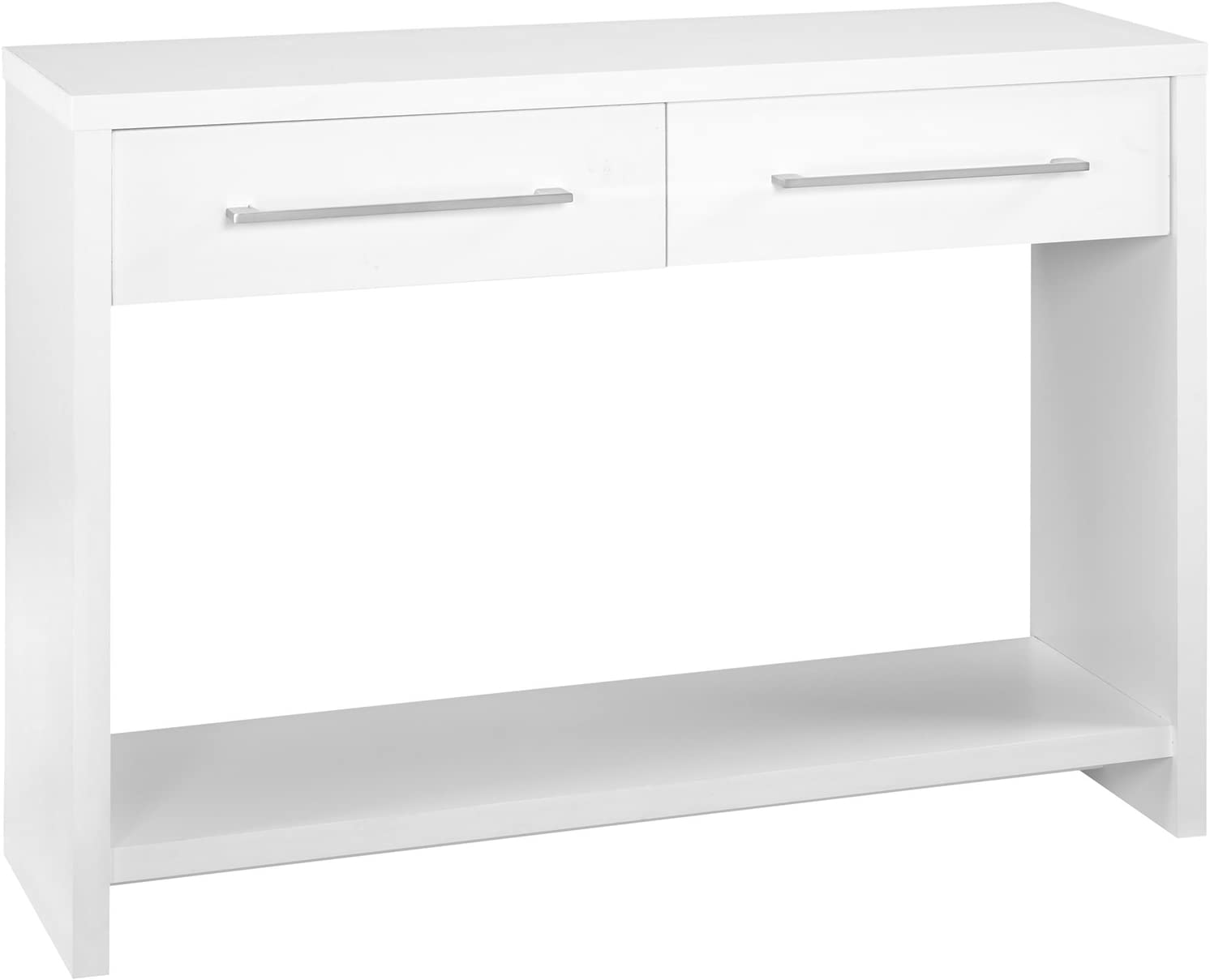 Amazon.com: ClosetMaid 1652 Console Table With 2 Storage Drawers, White: Home & Kitchen