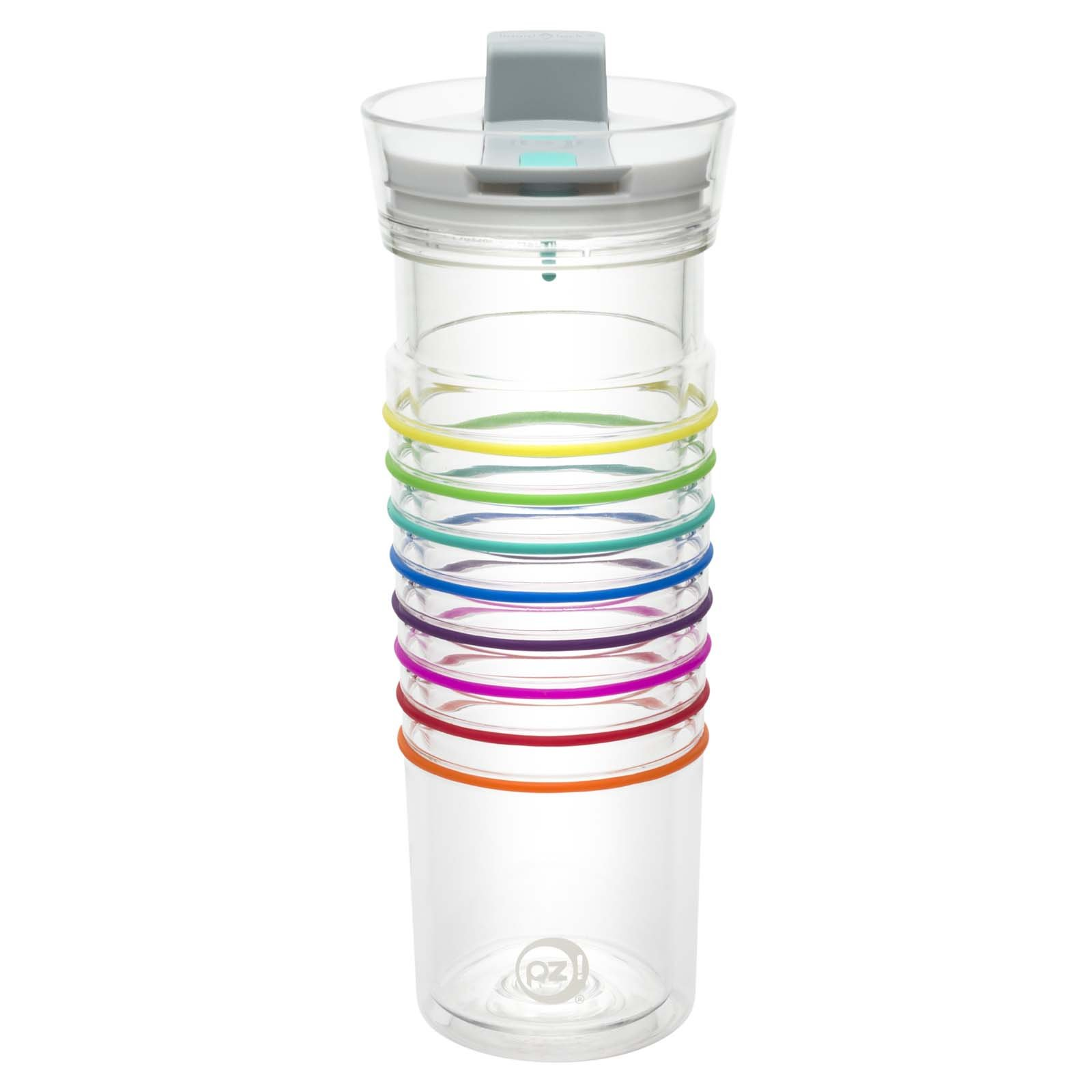 Zak Designs HydraTrak 20 oz. Double Wall Tumbler with Lever Lid, Clear
