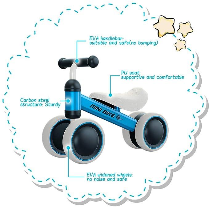 Amazon.com: YGJT - Bicicleta de equilibrio para bebé, para ...