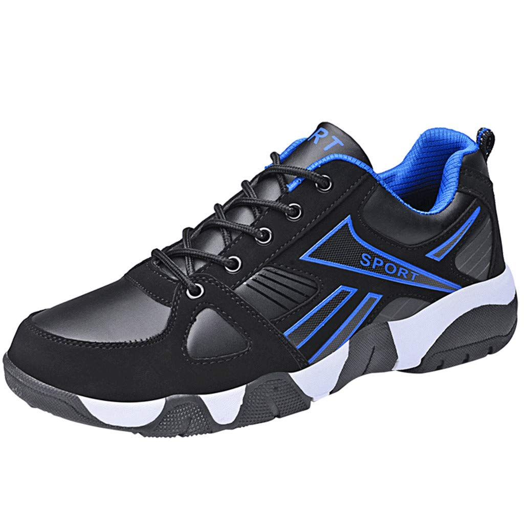 Caopixx 2019 Men's Sneakers Lightweight Breathable Traveling Sport Shoes Casual Running Tennis Sneakers Blue