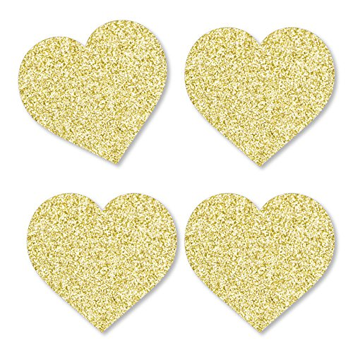 Gold Glitter Hearts - No-Mess Real Gold Glitter