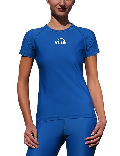 iQ-Company UV 300 T-Shirt Watersport - Camiseta con manga corta de natación para mujer