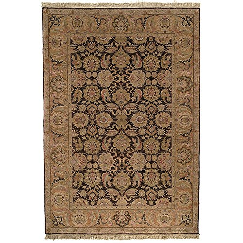 Brown Hand Knotted Wool - Safavieh Old World Collection OW115B Hand-Knotted Traditional Oriental Dark Brown and Gold Wool Area Rug (9' x 12')