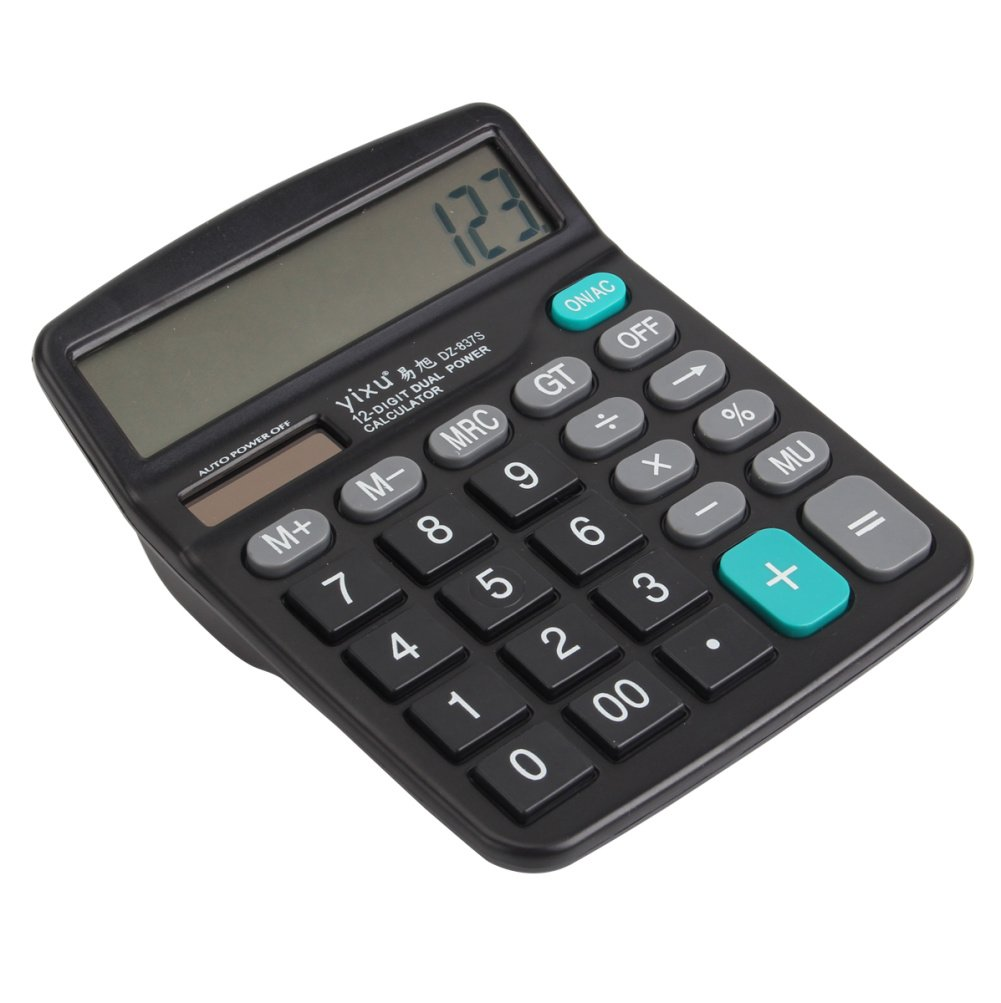 Business Calculator, LONGYAO Scientific 12 Digit Electronic Calculator for Office and Home Standard Function Desktop Calculator