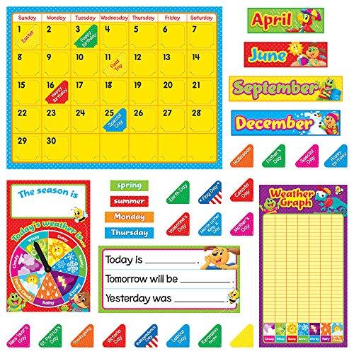 (TREND enterprises, Inc. T-8420 Playtime Pals Calendar Bulletin Board Set)