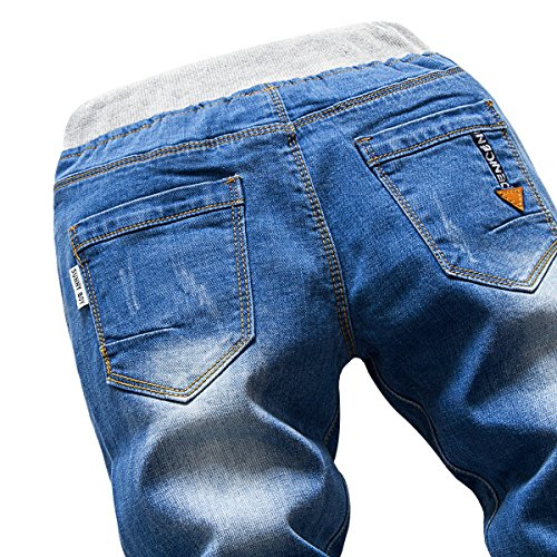 Premium Skinny Boys Jeans Slim Fit Pants for Toddlers Kids and Teens (2T, Nice LT) by HOLLAGLEE (Image #7)