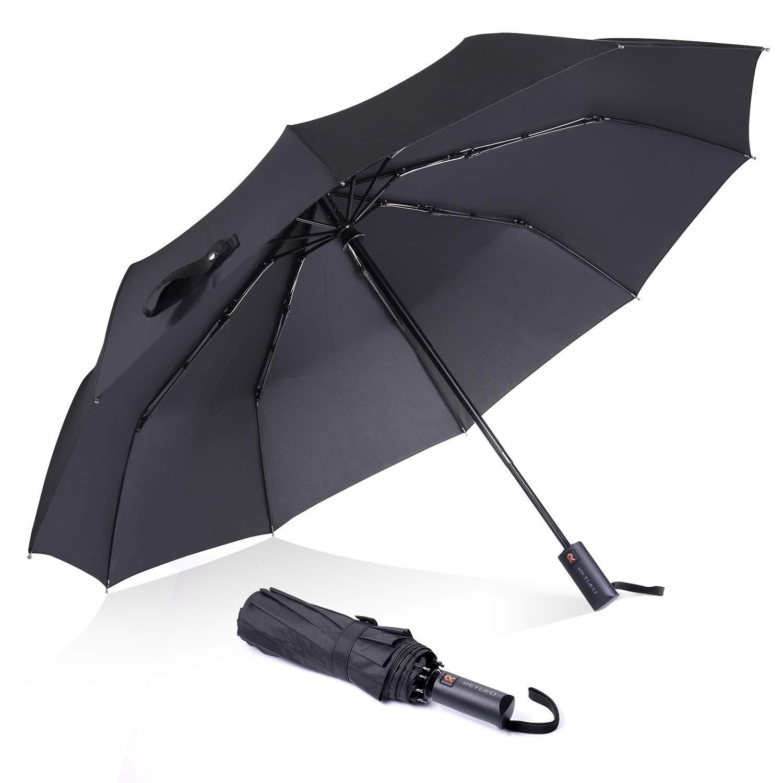 Ombrello pieghevole antivento rinforzato, 10 coste, diametro 105 cm