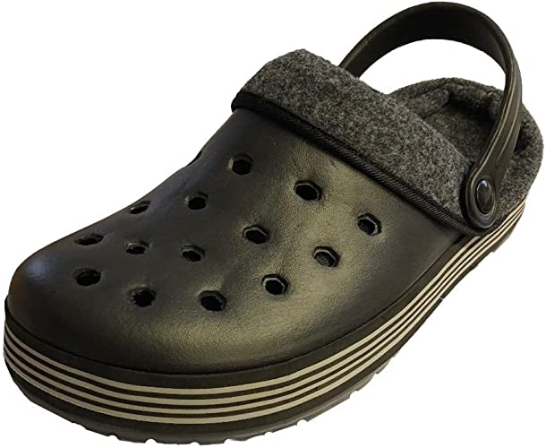 Mens Crocs Style Comfy Slip On Shoe