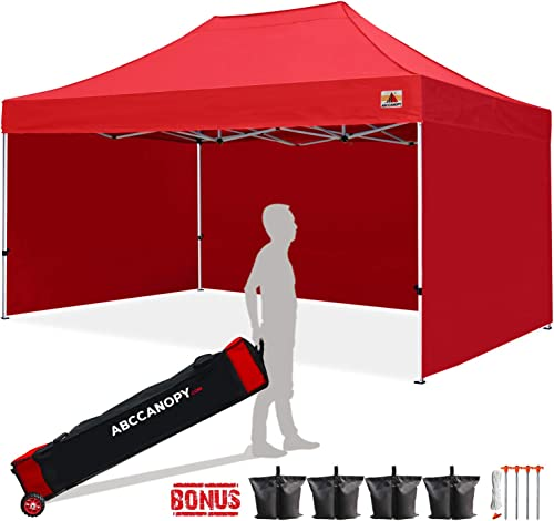ABCCANOPY Canopy Tent 10×15 Pop Up Canopy Tent Commercial Instant Shade Tent with Upgrade Roller Bag