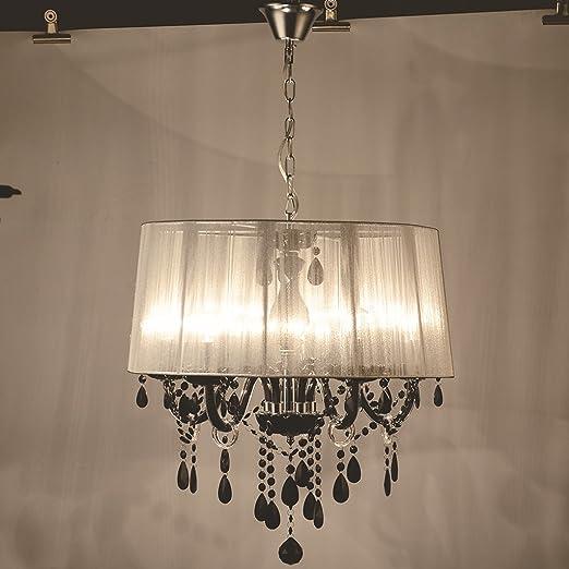 Pendant Chandelier Modern Crystal Chandeliers Led Lamps White Black