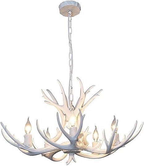 5 Light Natural Antler Hanging Chandelier
