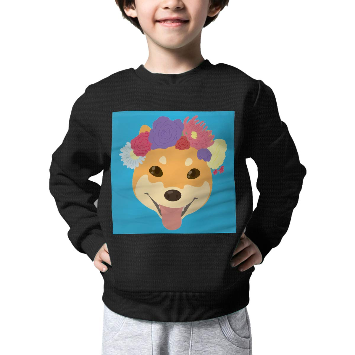 Rainbowhug Shiba Inu Dog Kids Sweater Cool Warm Sweater Toddler for Girls Boys