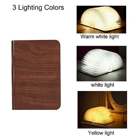 Table Book LightFolding Shaped Colors Lamp Quace Gift Book LampNight Light3 Wood Light Book USB Real DecorCreative Magical Rechargable Led for ym0v8NPnwO