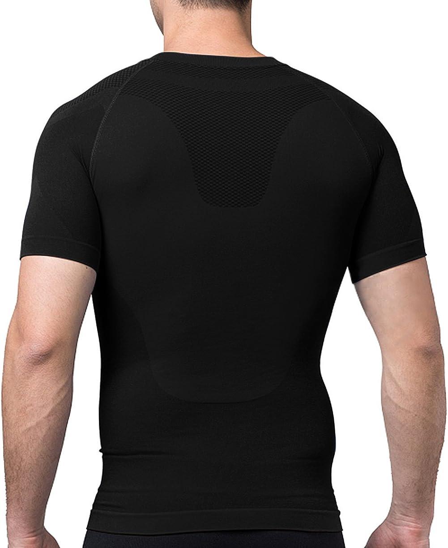 Sodacoda Hombre Secado S/ápido Camisetas Manga Corta Base Layer T-Shirt